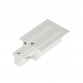 SLV 145541 Feed In Earth Left White Eutrac 3 Circuit 240V Recessed Track Accessory