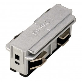 SLV 145564 Electrical Straight Coupler Silver Grey Eutrac 3 Circuit 240V Surface Track Accessory