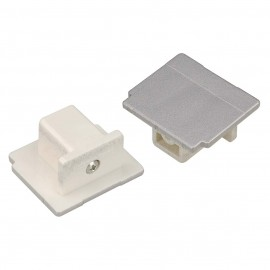 SLV 145594 End Cap Silver Grey Eutrac 3 Circuit 240V Surface Track Accessory
