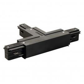 SLV 145630 T Coupler Earth Left Black Eutrac 3 Circuit 240V Surface Track Accessory