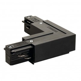 SLV 145680 L Coupler Earth Inner Black Eutrac 3 Circuit 240V Surface Track Accessory