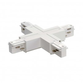 SLV 145691 X Coupler White Eutrac 3 Circuit 240V Surface Track Accessory