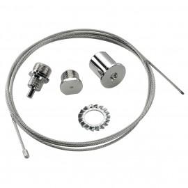 SLV 145810 Wire Suspension 3.0m Chrome Eutrac 3 Circuit 240V Surface Track Accessory