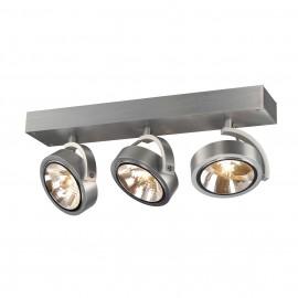 SLV 147276 Kalu 3 3x50W Brushed Aluminium Ceiling & Wall Light