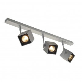SLV 151184 Altra Dice 3 3x50W Ceiling Light Silver Grey & Black