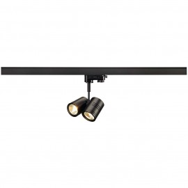 SLV 152230 Bima 2 2x50W Black Eutrac 3 Circuit 240V Track Light