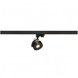 SLV 152600 Kalu Track LEDDisk 12W 3000K Black Eutrac 3 Circuit 240V Track Light DIMMABLE