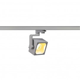 SLV 152744 Euro Cube Spot LED 28.5W 3000K Eutrac 3 Circuit Track Light Silver Grey