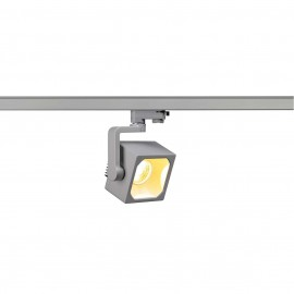 SLV 152754 Euro Cube Spot LED 28.5W 3000K Eutrac 3 Circuit Track Light Silver Grey