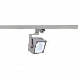 SLV 152784 Euro Cube Spot LED 28.5W 4000K Eutrac 3 Circuit Track Light Silver Grey