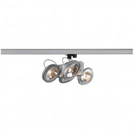 SLV 153022 Tec 4 QRB 4x50W Silver Grey Eutrac 3 Circuit 240V Track Light