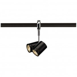 SLV 185440 Bima 2 2x50W Chrome & Black Easytec II 240V Track Light