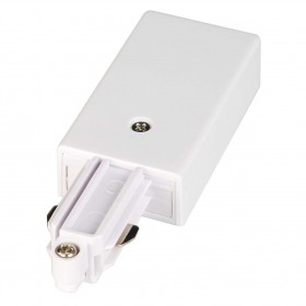 Feed In Earth Left White 1 Circuit 240V Track Accessory