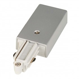 Feed In Earth Left Silver Grey 1 Circuit 240V Track Accessory