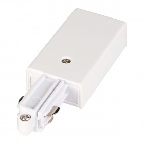 Feed In Earth Right White 1 Circuit 240V Track Accessory