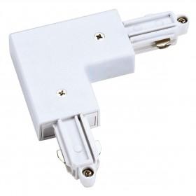 L Coupler Earth Inner White 1 Circuit 240V Track Accessory