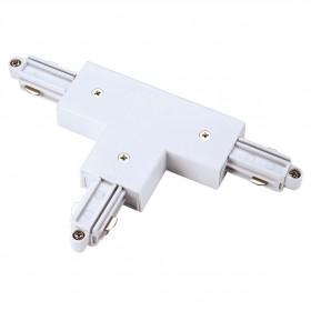 T Coupler Earth Left White 1 Circuit 240V Track Accessory