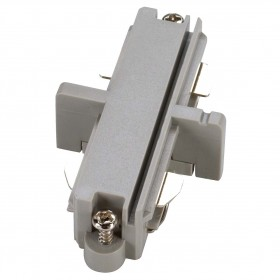 Straight Coupler Silver Grey 1 Circuit 240V Track Accessory