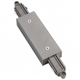 Straight Coupler With Feed In Silver Grey 1 Circuit 240V Track Accessory