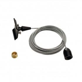 Ceiling Suspension 3m Black 1 Circuit 240V Track Accessory