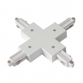 X Coupler Earth Left White 1 Circuit 240V Track Accessory