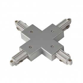 X Coupler Earth Left Silver Grey 1 Circuit 240V Track Accessory