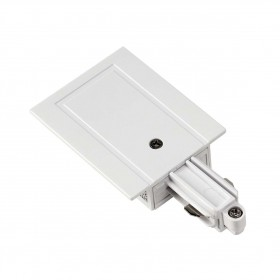 Feed In Earth Right White 1 Circuit 240V Recessed Track Accessory