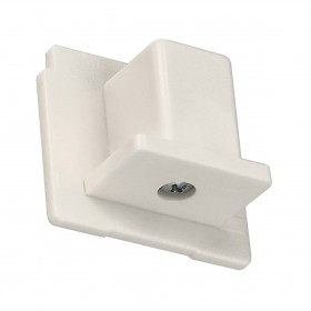 End Cap White Eutrac 3 Circuit 240V Surface Track Accessory