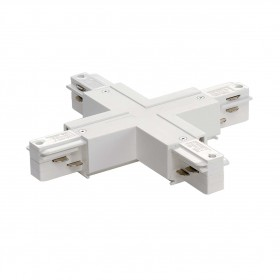 X Coupler White Eutrac 3 Circuit 240V Surface Track Accessory